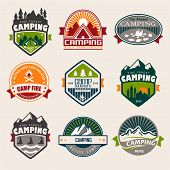 pic of fish icon  - Camping logo - JPG