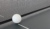 picture of ping pong  - Close up of Ping Pong ball and Table - JPG