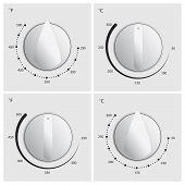 Oven Dial Vector poster
