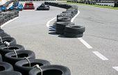 foto of karts  - Machine karts before the start on the circuit - JPG