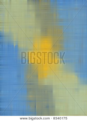 weaved sky with yellow cross background