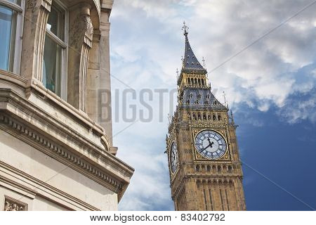 Elizabeth Tower, Or Tower Of Big Ben In London
