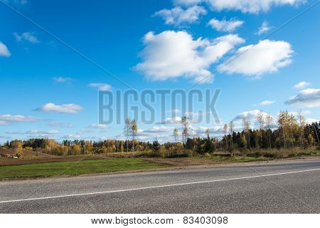 Cloud Formation Over Country Landscape