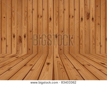 brown wood flooring and wall