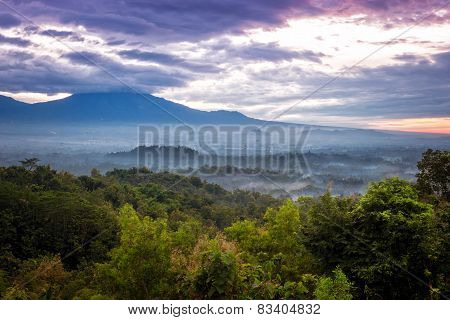 Valley Sunrise Over Borobudur