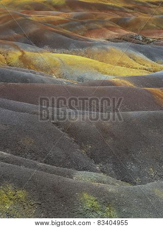 Colored volcano earth