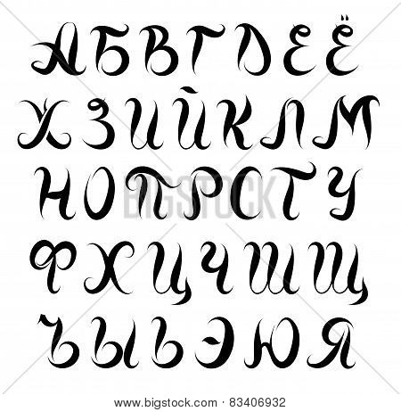 Cyrilic Alphabet Set