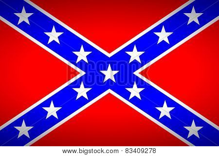 The Confederate Flag. Very Bright Colors.