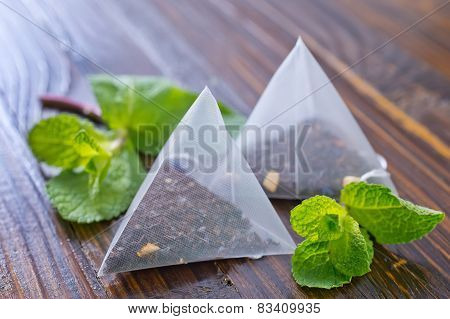 mint tea in bags
