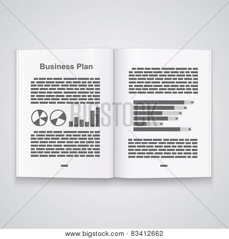 Business plan book. Vector