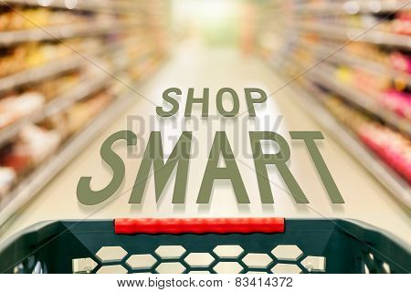 Shopping Concept Shop Smart In Supermarket