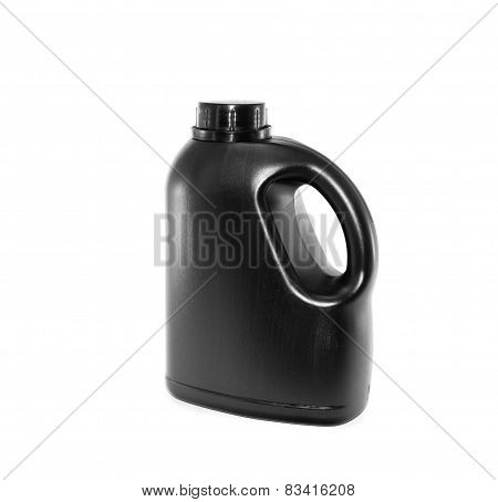 Black Gallon On White Background