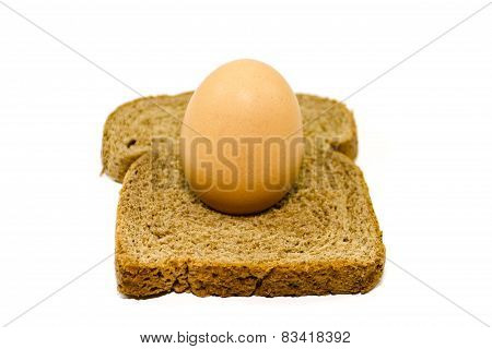 Fresh Brown Toast Bread with Egg
