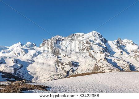 Mountain With Blue Sky, Alps, Zermatt, Switzerland