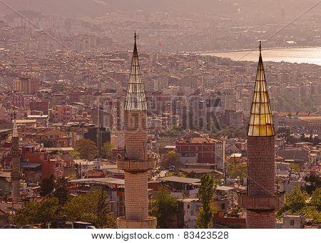 Minarets In Izmir Turkey
