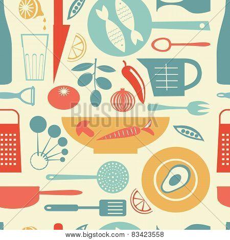 Colorful kitchen pattern