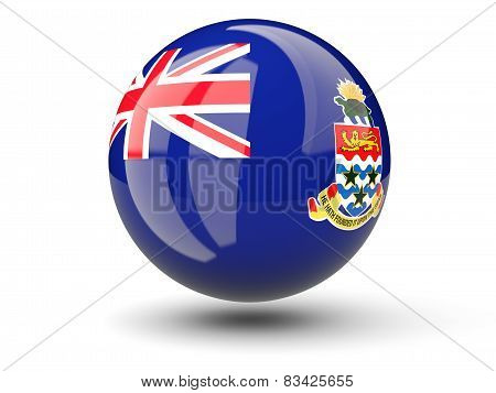 Round Icon Of Flag Of Cayman Islands