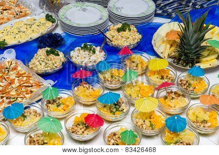 Catering food at a party