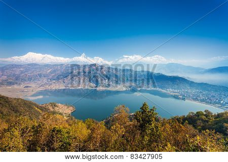 Phewa Lake And Annapurna