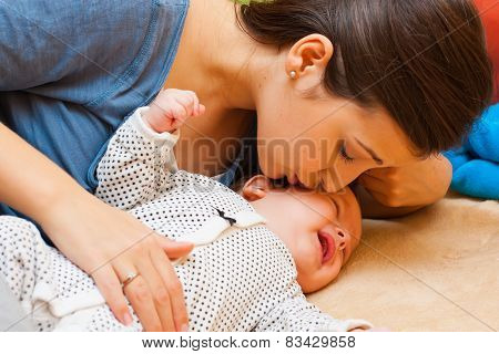 Mother With Her Crying Baby