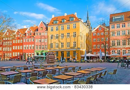 Denmark. Copenhagen. Square in the center of the city