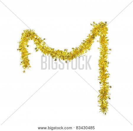 Christmas golden tinsel
