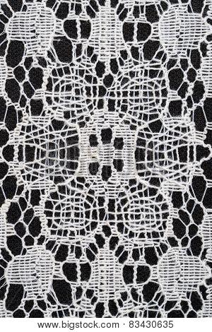 macro of lace