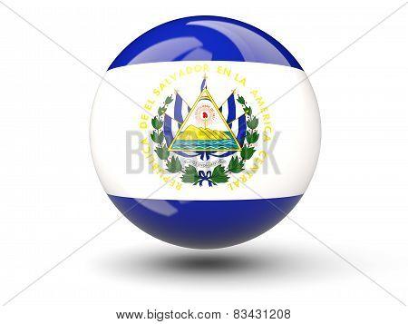Round Icon Of Flag Of El Salvador