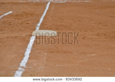 First base foul line