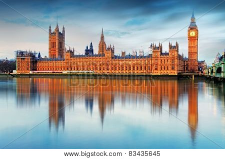 Houses Of Parliament - Big Ben, England, Uk