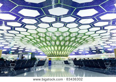 Waiting hall of Abu Dhabi International Airport
