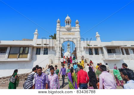Mumbai, India - February 27: Unidentified People At Haji Ali Dargah On February, 27, 2014, Mumbai, I