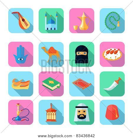 Arabic Culture Icon Flat
