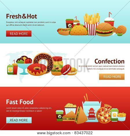 Fast Food Banner Set