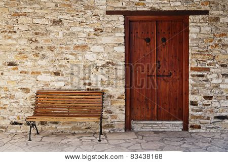 Door and bench