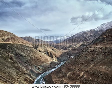 Indas Mountain River In The Himalayas