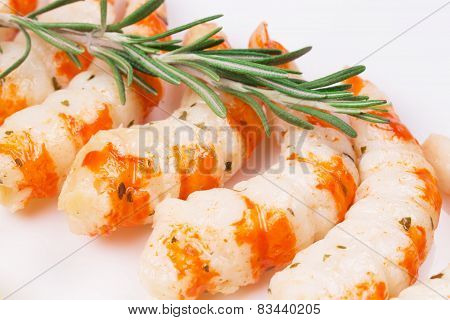Tasty shrimps.