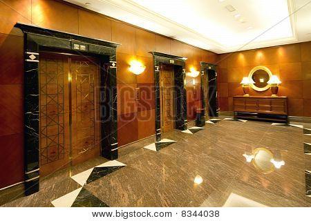 Lift Lobby In A Luxury Hotel