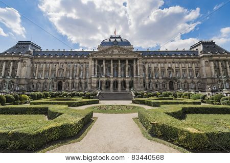 Royal Palace Of Brussels In Belgium.