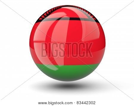 Round Icon Of Flag Of Malawi