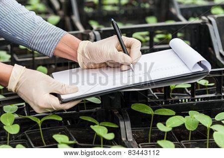 Biotechnology woman engineer