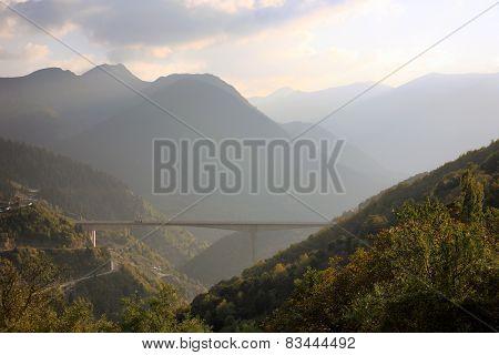 Big Bridge With Highway