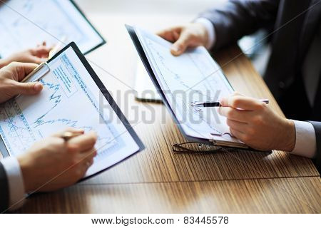 Banking business or financial analyst desktop
