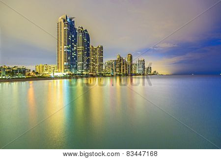 Skyline Of Sunny Isles Beach By Night