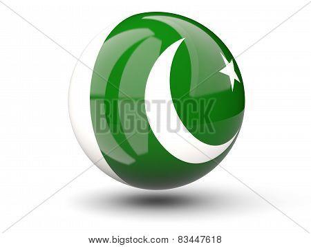 Round Icon Of Flag Of Pakistan