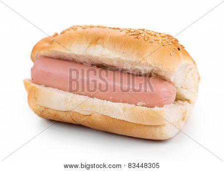 Hotdog with sausage roll.