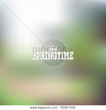 Spring time poster, vector web and mobile interface template. Blurred mesh background