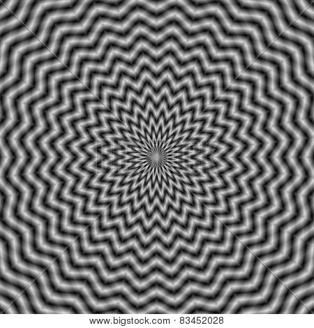 Circular Wave In Monochrome