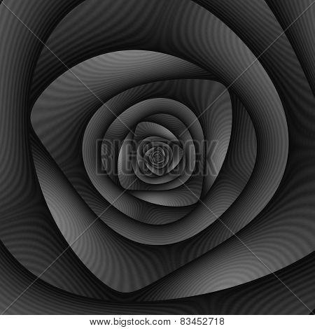 Spiral Labyrinth In Monochrome
