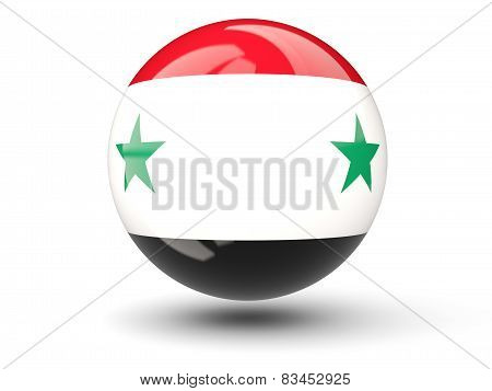 Round Icon Of Flag Of Syria